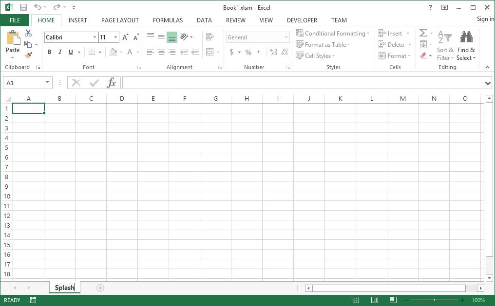 DLL Microsoft Excel Sample – Step 2 Aa Worksheet