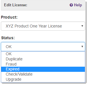 Deactivating Licenses