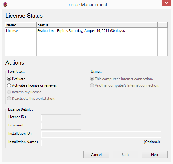 Using the License Manager