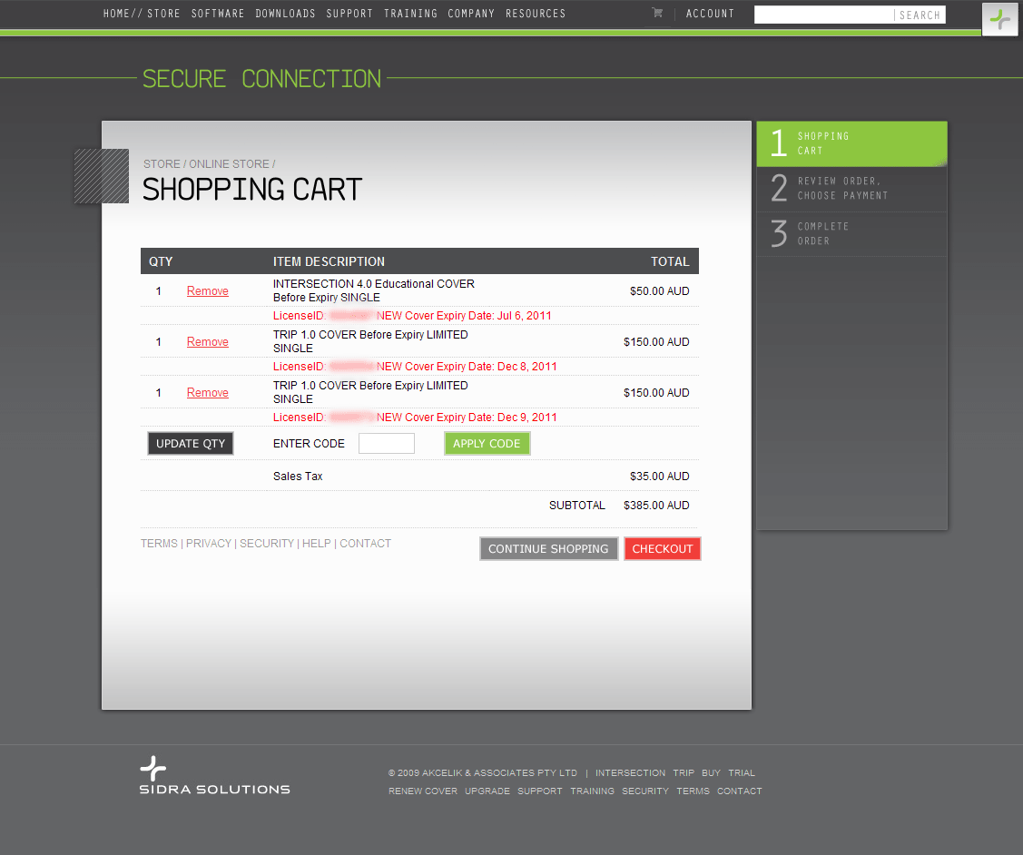 Sidra Shopping Cart