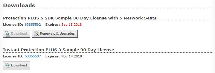 Customer License Portal Downloads